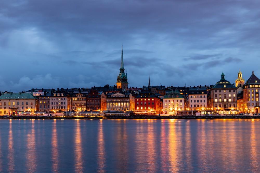 Stockholm in de avond